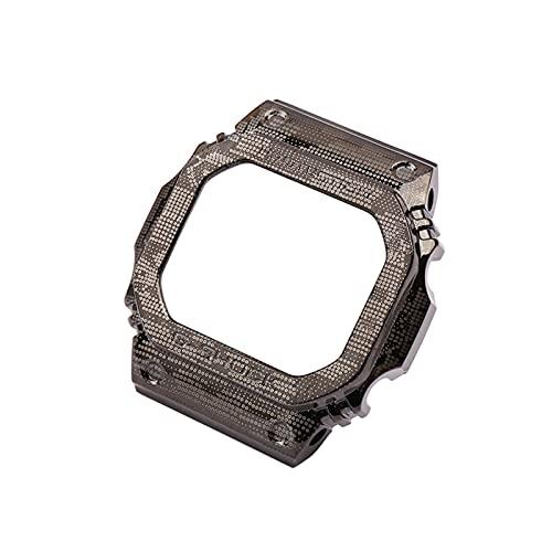Flyuzi 316 Caja de Correa de Camuflaje de Acero Inoxidable Hombre DW5600 Series GW5000 5610 Accesorios de Pulsera de Banda de Reloj para Casio G-Shock Dama (Band Color : Case, Band Width : 5600)