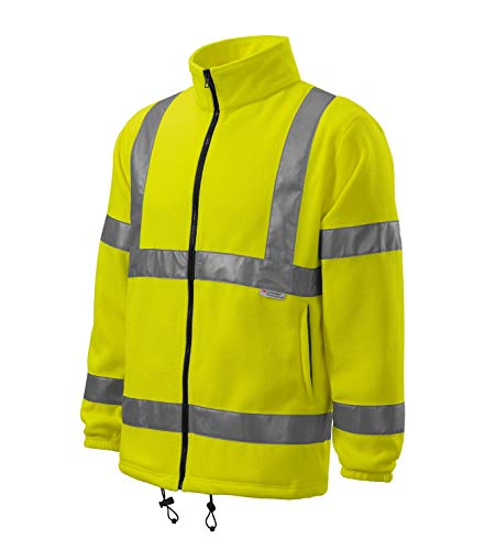 ARTIST HVFLEECEJACKET Fleecejacke Schutzkleidung Workwear Unisex mit fluoreszentem Material Größe M, Farbe Neongelb
