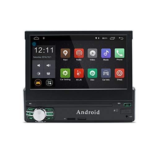 KXT1 1 Din Android 8.0 Car Stereo Pantalla Táctil de 7 Pulgadas Navegación GPS Radio AM / FM / RDS 1GB RAM 16GB ROM Enlace Espejo Dirección del Volante Cámara de Visión Trasera Entrada DVR