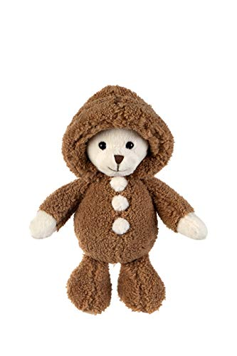 Dilly dudu 11inches Teddy Bear with Hoodie Stuffed Animal Plush,Plush Toy,Gifts for Kids(Brown)