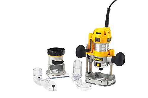 Dewalt D26204K-QS Fresadora Combo 900W-27.000 RPM (6-8 mm) -Electrónica, Negro y amarillo