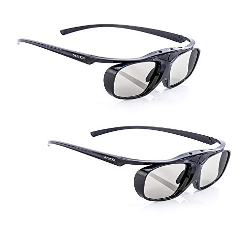 2x Hi-SHOCK BT Pro Black Heaven   Aktive 3D Brille für 3D TV von Sony, Samsung, Panasonic   komp. zu SSG-3570 CR, TDG-BT500A, AG-S350 [Akku]