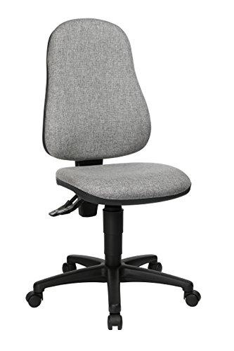 Topstar Point 60 Chaise de Bureau Tissu, Polypropylène, Gris Clair, 54 x 47 x 109 cm