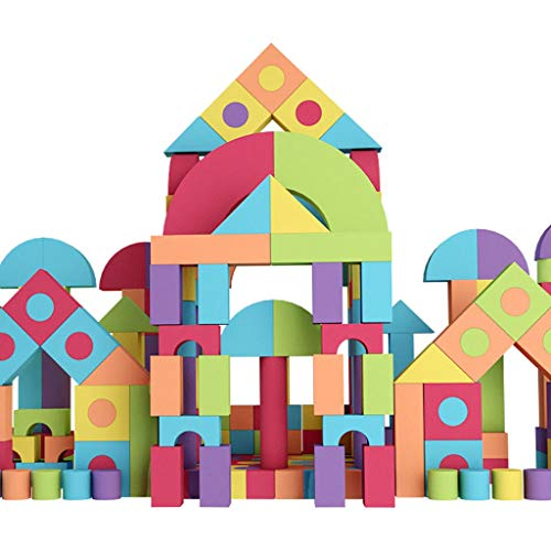 Find Discount LIUFS-TOY Children's Building Blocks 3-6 Years Old Eva Foam Building Blocks Girl Softw...