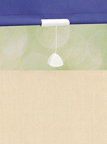 deko-raumshop Springrollo Mittelzugrollo Schnapprollo Rollo Beige Sand Breite 60-240 cm Länge 180 cm Blickdicht Lichtdurchlässig Sonnenschutz Sichtschutz (242 x 180 cm)