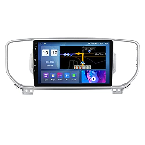 ADMLZQQ Touchscreen 9' Double DIN Car Radio con Carplay per Kia Sportage4 KX5 2016-2018,Autoradio with BT/GPS/Controllo del Volante/Backup Camera/Mirror Link/4G LTE/WiFi/AM/FM/DSP,M300s