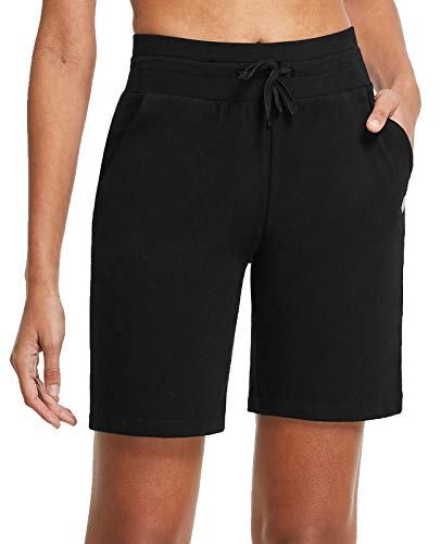 FitsT4 8' Women's Activewear Athletic Bermuda Shorts Active Yoga Lounge Short Pants Gym Workout Running Shorts Black