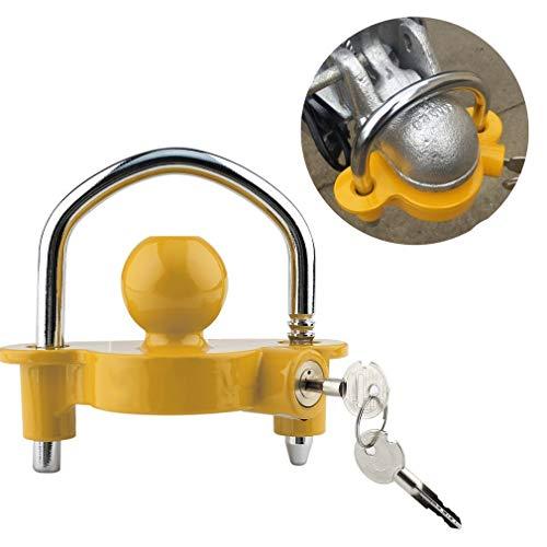 Andrehugo Anhängerschloss | für gängige Anhängerkupplung | einfache Montage | Diebstahlschutz Diebstahl Anhänger Sicherung (12×6×14.5 cm)