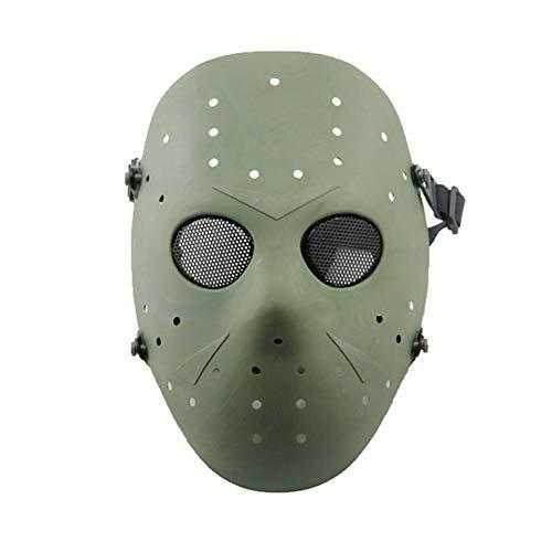 WISEONUS Airsoft Maske Paintball Masken Taktisch CS Games Schutz Jason Metall Mesh Masken Volles Gesicht Schutzmaske für Cosplay Kostüm Party Halloween