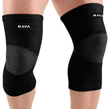 Mava Kniebandage, Linderung von Gelenkschmerzen und Arthritis, Schwarz , m
