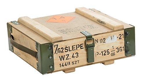 Slepe Munitionskiste ca 47x35x15cm en bois militärkiste munitionsbox weinkiste cagette à pommes en bois style vintage