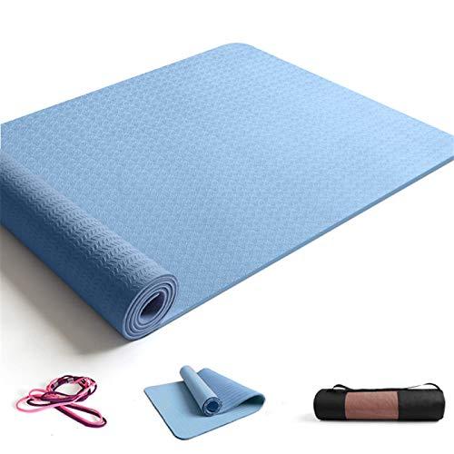 ZBK Esterilla de yoga de 8 mm de grosor antideslizante de TPE para yoga, esterilla de fitness, 183 x 68 x 0,8 cm, 5 colores