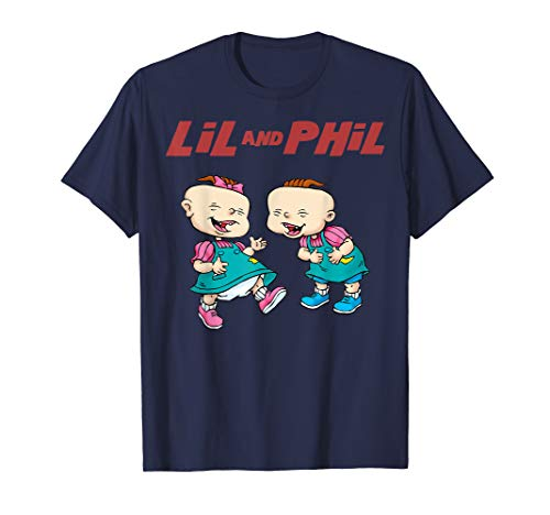 Rugrats Lil And Phil Laughing Poster T-Shirt