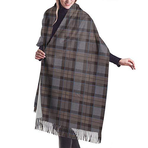 Nihaoma Outlander Fraser Tartan Plaid Damen Pashmina Schals Wraps Warme Winterschals Geschenk Reversible Soft Cashmere Feel Herbst Schal für Mädchen