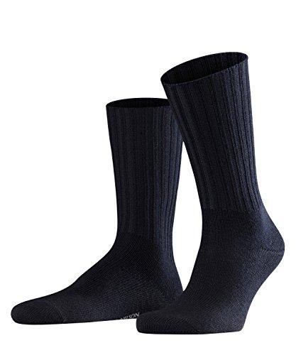 FALKE Herren Socken Nelson - Merinowollmischung, 1 Paar, Blau (Dark Navy 6370), Größe: 47-50