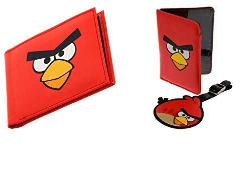 Edizione limitata Angry Birds Red Zip Portafoglio & Passaporto & Set di etichette per bagagli