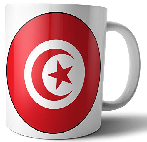 Tunesien – Tunesische Flagge – Tee – Kaffee – Tasse – Tasse – Geburtstag – Weihnachten – Geschenk – Secret Santa – Strumpffüller