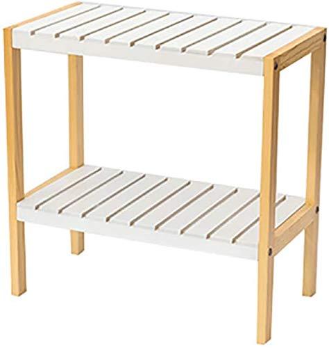 Zapatero Zapato estante de madera de doble capa Sala de aterrizaje de almacenamiento en rack estante entrada zapatero de cabecera Estante de almacenamiento que ahorra espacio de diseño fácil de montar