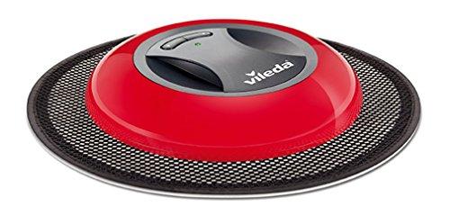 Vileda Virobi Slim - Mopa robot con sistema de autorotación y 2 programas de limpieza, apto para todo tipo de suelos e ideal para el pelo de mascotas, diseño ultrafino, color rojo