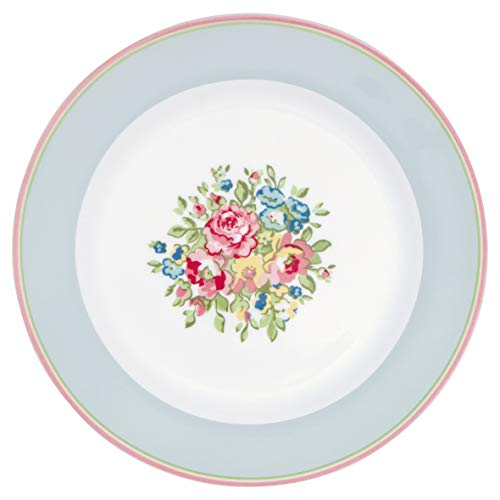GreenGate - Teller, Kuchenteller, Frühstücksteller - Nicoline - Porzellan - D: 20,5 cm