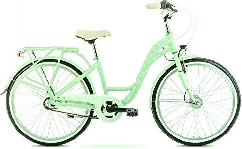 breluxx® 24 Zoll ALU Schulfahrrad Mädchenfahrrad Panda 2.0, Rücktrittbremse, Nexus 3 Gang Nabenschaltung, Nabendynamo + Beleuchtung, City Bike, Mint grün - Modell 2020