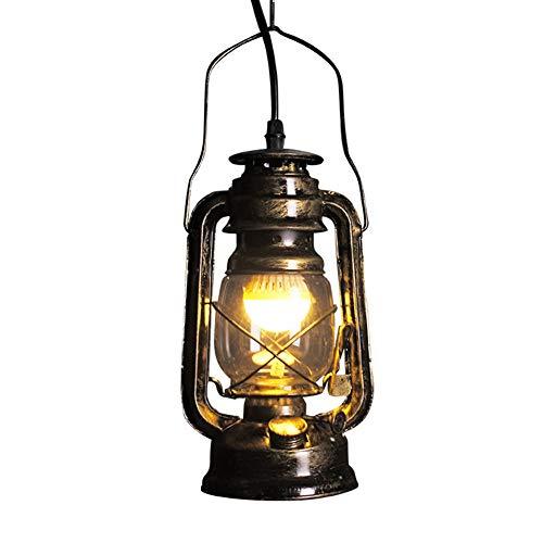 Vintage Sturmlaterne LED, Hurricane Laterne Innen dekorativ, Retro Petroleumlampe, Hotelzimmer Wohnaccessoires, E27 Gewinde Glühbirne