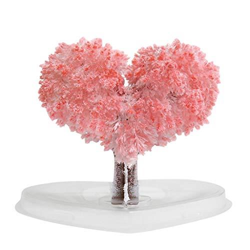 Sensail- Arbre Magique Bonsaî Magic Sakura Arbre en Papier en Forme de Coeur Floraison Créative Magie Colorée Arbre Croissant Artisanat Jouet (A)