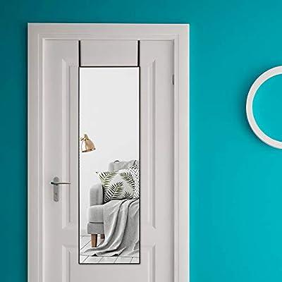 Rose Home Fashion Aluminum Alloy Thin Frame-48×14 Inch, Door Mirror, Over Door Mirror, Full Length Mirror, Wall Mirror, Door Hanging Mirror, Black Frame