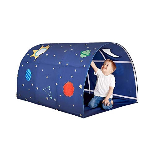 ICDOT Bed Tents For Boys Girls Single Bed Children Play Tent Tunnel Boys Play House Kids Game Play House Tent Birthday Gifts Bedroom Decor, Blue (Color : -)