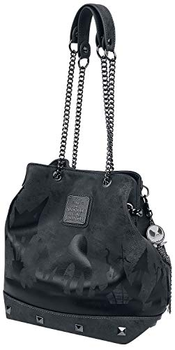 Loungefly x Nightmare Before Christmas Halloween Town Crossbody Bag, Grey, One Size