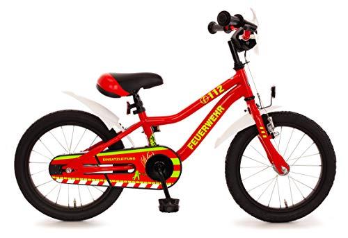 Feuerwehr Feuerwehr 16 Kinderspielrad MTB mit R�cktrittbremsnabe 16 Zoll Kinderfahrrad rot