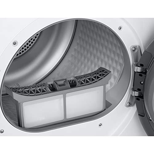Samsung Elettrodomestici DV90TA040TH/ET Asciugatrice Crystal EcoDry, Front Load, 9 kg, Bianco, Oblò Bianco