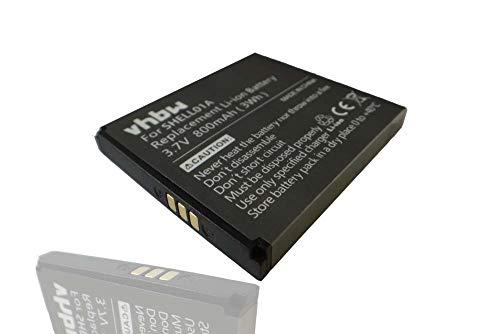 vhbw Akku kompatibel mit Doro PhoneEasy 409, 410, 410GSM, 605, 605GSM, 610, 612 GSM Handy Smartphone Handy (800mAh, 3,7V, Li-Ion)