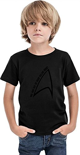 Styleart Out of Your Vulcan Mind - Camiseta para niños, Negro, 2-3 Años