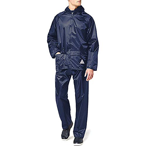 Result Mens Heavyweight Waterproof Rain Suit (Jacket & Trouser Suit) (M) (Black)