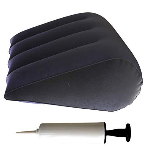 MILISTEN Almohada de Cuña Inflable de Aire de 2 Piezas con Bomba de Inflado Almohada Triangular de 45X36 Cm para Dormir Y Ayuda a La Posición Cojín de Lectura para Cama para Uso Doméstico