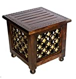 An ideal gift for a housewarming, wedding,Christmas, Diwali, birthday or anniversary parties , Stool can be used as an end table, chair side table, stool,coffee table base, outdoor or indoor plant stand, or nightstand Material: Natural Wood Finish, S...