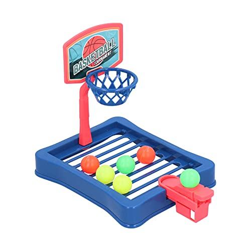 Juego de baloncesto de escritorio, Basket Ball Shootout Juegos de arcade de mesa Juego de baloncesto con expulsión de dedos Mini escritorio interactivo Juego de baloncesto de mesa Juguete(Azul)