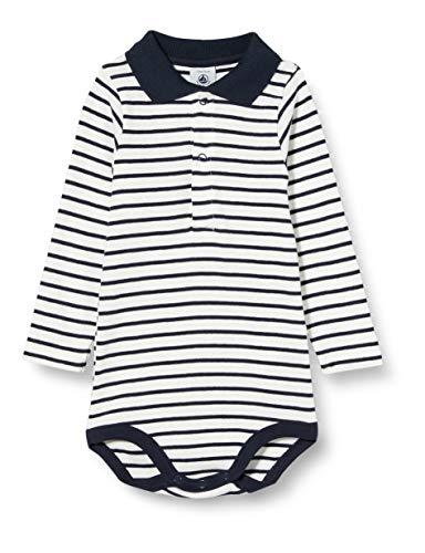 Petit Bateau Jungen 5788401 Baby- und Kleinkind-Unterwäscheset, Weiß/Blau, 3 Monate