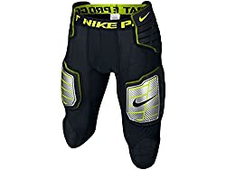 top rated Nike Hyper Strong Compression Hard Plate Men's Football Pants Black / Bolt Size Large 2021