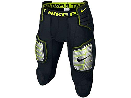 commercial Nike Hyper Strong Compression Hard Plate Men's Football Pants Black / Bolt Size Large mens nike girdle