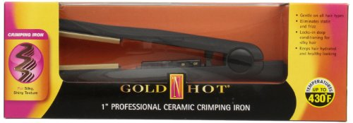 Gold N' Hot GH3010 Professional Ceramic Crimping Iron, 1 Inch