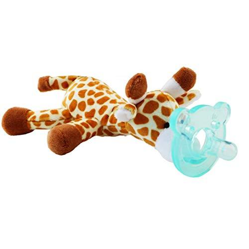 Nicedier Juguete Animal bebé con Silicona Chupete Chupete soothie Infantil y Titular Mordedor con Juguete de Peluche - Random Estilo Juguetes