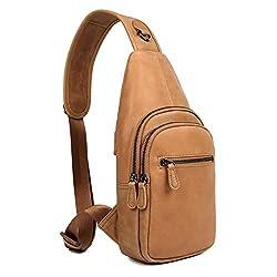 AVYERE Genuine Leather Crossbody Daypack For Men & Women