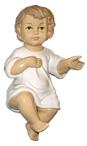 Ferrari & Arrighetti Niño Jesús de cerámica para belén de 17 cm