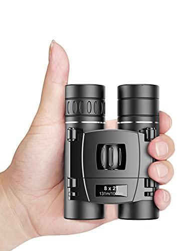 Apexel 8x21 Mini Pocket Binoculars for Adults Kids Bird Watching Small Compact Lightweight Binoculars Folding Telescope with FMC Lens for Kids Birdwatching Travelling Sightseeing Hunting(0.38lb)