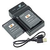 DSTE EN-EL23 - Batería y cargador para cámara Nikon Coolpix P600, S810c, P900S (2 unidades)