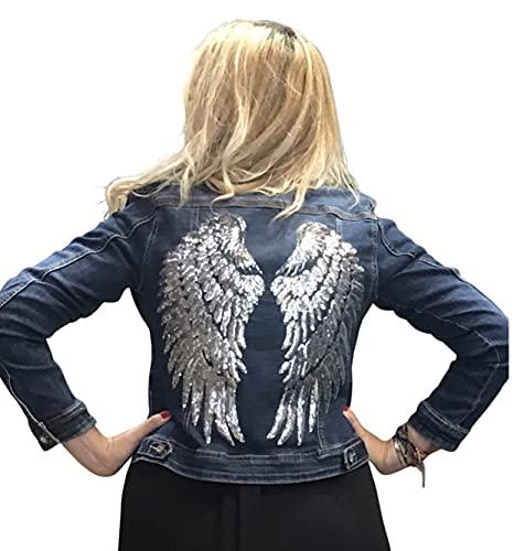 Chaqueta Vaquera Mujer elastica alas y tachuelas
