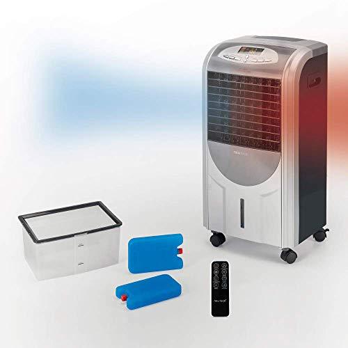 NEWTECK - Purificatore d'aria per casa 4 in 1 con anioni e filtro antipolline (fino al 99,99% di particelle) F. Freddo, Calore, Umidifica e Purifica Umidificatore d'aria portatile con telecomando