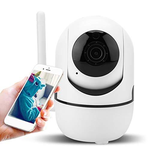 Zoternen beveiligingscamera, 1080p HD draadloze camera met 64 GB SD-kaart, 355 graden horizontale rotatie, WALN camera met intercomfunctie
